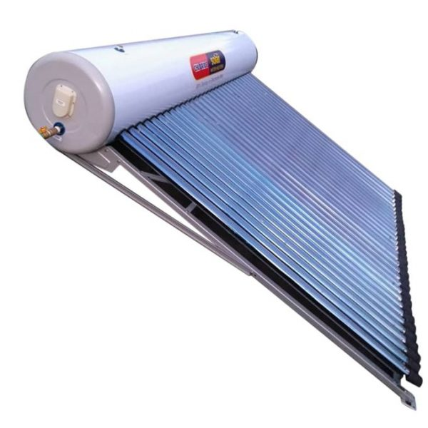 Solar Water Heater 300Ltr Vacuum Tube Technology works very well with little sunshine has electric booster option has anode Great for both commercial and Domestic use. WHAT'S IN THE BOX 300LTRS TANK, FRAMING STRUCTURES AND 30 HEATING TUBES SPECIFICATIONS SKU: GE779GP1KH6MENAFAMZ Color: WHITE Main Material: Glass and Metal casing Model: Chloride Solar Production Country: China Product Line: SOLAR WATER HEATER Size (L x W x H cm): 180*5.8*3.6 Weight (kg): 72